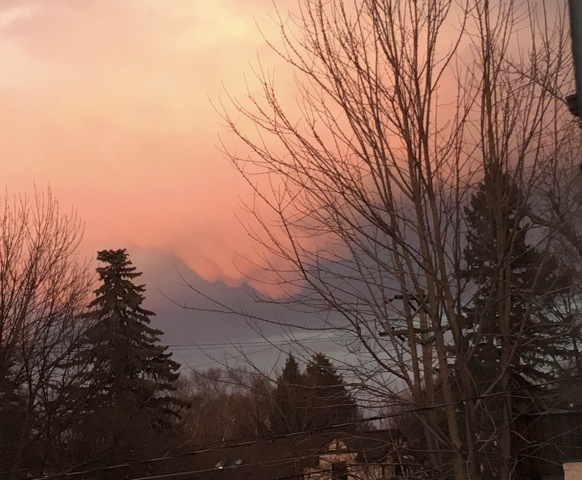 Winter sunset over Saint Paul, MN, on Feb. 22, 2017.